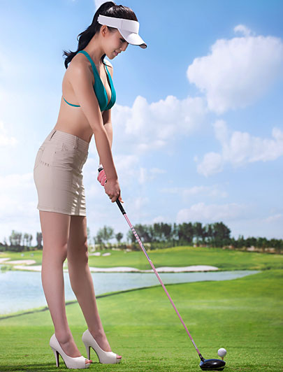 chinese high heeled golf shoes