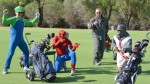 Superheroes get a kid hooked on golf