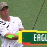 The Masters: Paul Casey of England takes the lead with an eagle on the second hole of par-five
