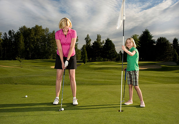 Junior golf training