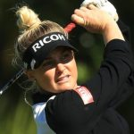 Charley Hull from England takes a shot in the last round in the season opener of Abu Dhabi