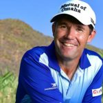 Harrington with the name 2020 Europe Ryder Cup captain