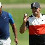Sparkling Koepka holds early US PGA lead as Woods struggles