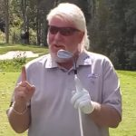 Barefoot golf: John Daly sinks hole-in-one at a charity event
