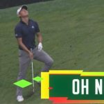 The Masters 2020: Watch American Collin Morikawa's chipshot go horribly wrong